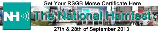 RSGB Morse Certificate